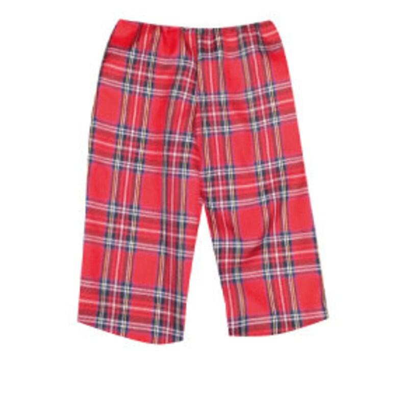 Pretty Disturbia babies tartan cropped red trousers punk grunge