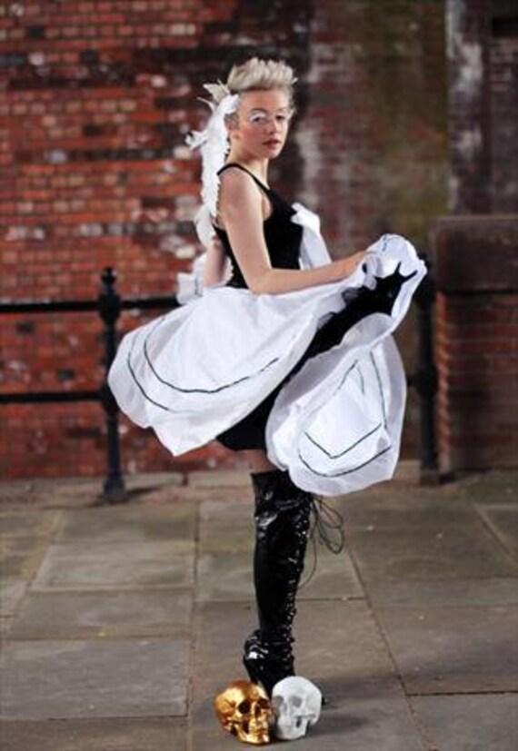 52749afe10f76 Pretty Disturbia 50s Style Full White Midi Net Circle Skirt