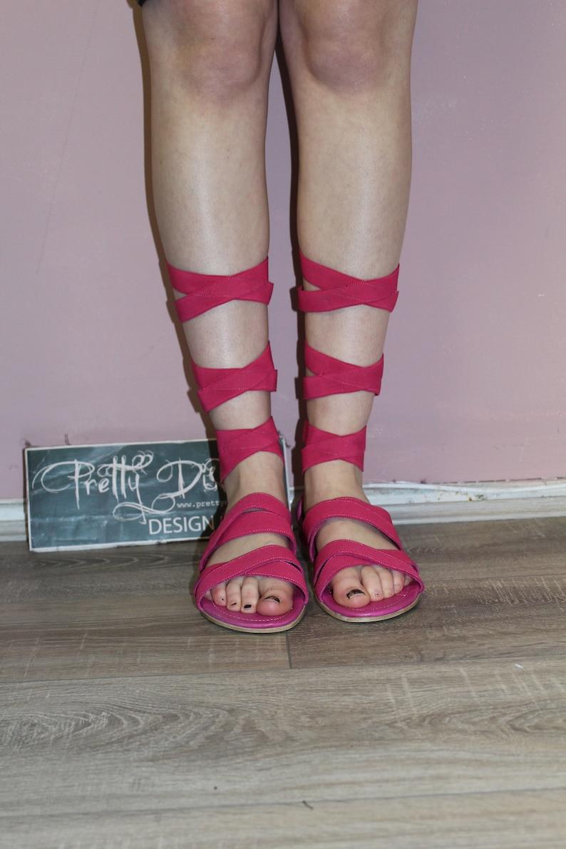 Vintage Hot Pink Salini Gladiator Sandals Perfect Festival Wear Retro