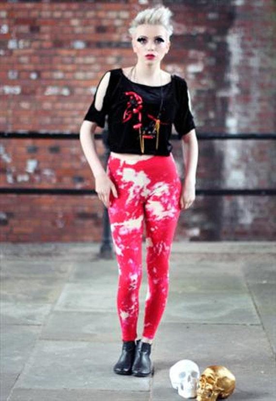 Pretty Disturbia Punk Grunge Tie Dye Festival Boho Leggings