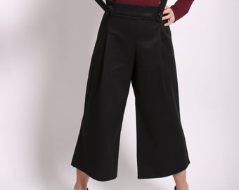 ALESSANDRA CROPPED trousers with suspenders (removable)