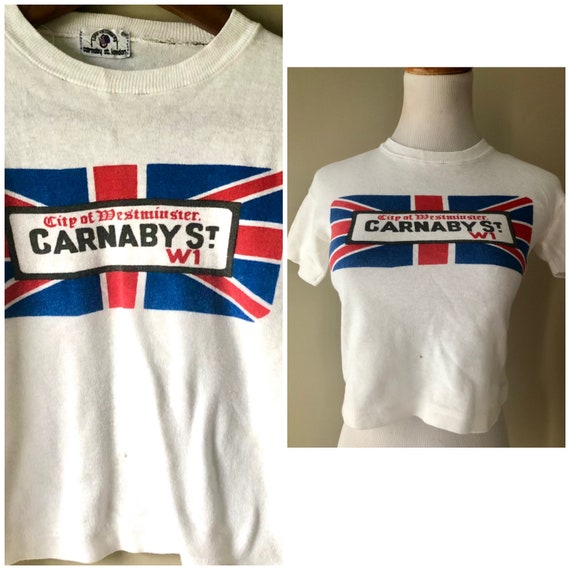 vintage 60's CARNABY STREET crop TOP - extra small