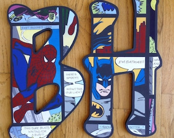 Comic Book Superhero inspired letters