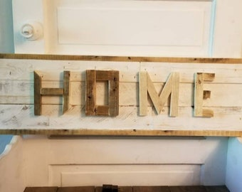 Reclaimed Scrap Home sign