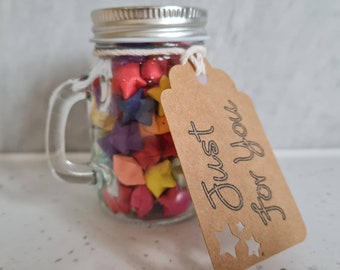 Star Jars, Star Gift, Lucky Star, Positive, Wedding Favours, Home, Paper, Wish Jar, Gift For Her, New Home, New Job, Wedding Anniversary