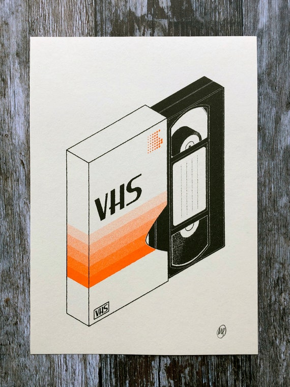 VHS Customisable Risograph Print