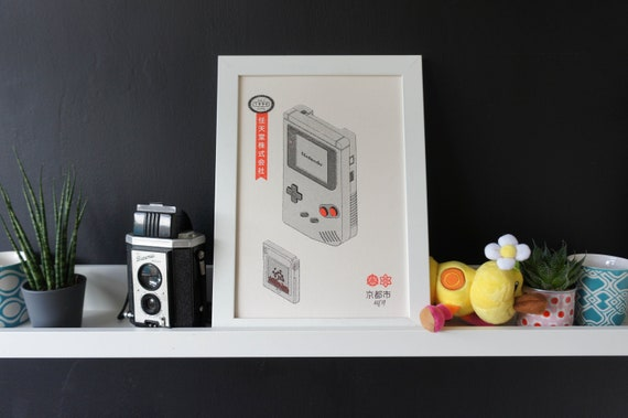 Nintendo Gameboy Risograph Print