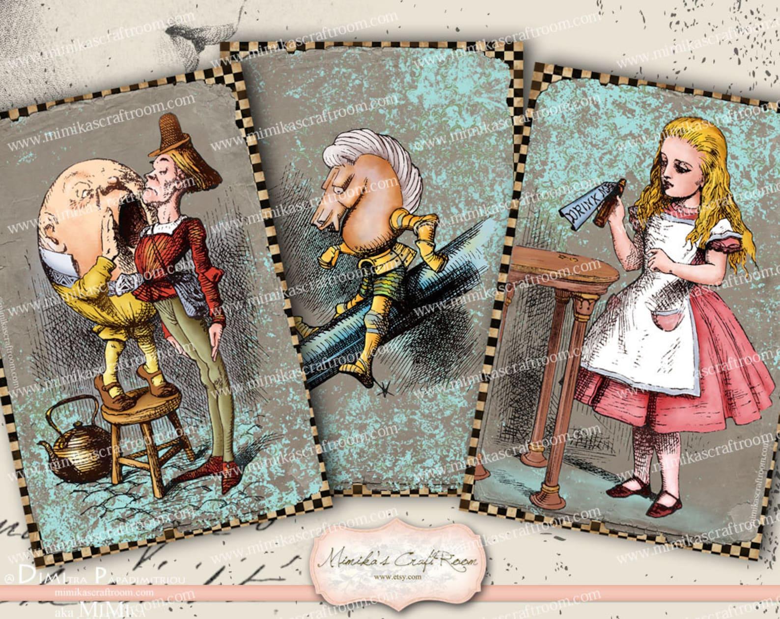 Алиса в стране чудес открытки с историей, анимационные открытки друг