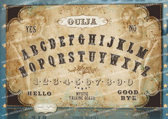Ouija Board Digital Download Halloween Vintage