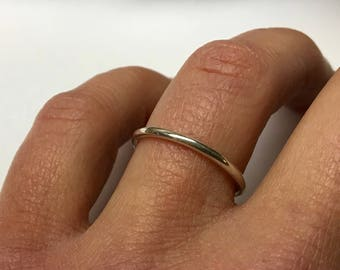 Simple Wedding Rings | Simple Wedding Band Etsy