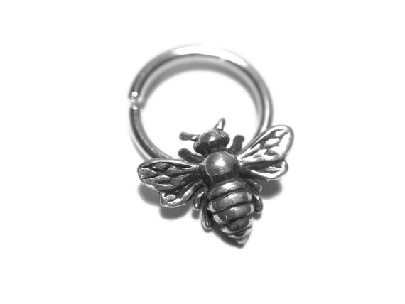 Killer Bee Septum Ring Bumblebee Body Jewelry Nickel Free Etsy