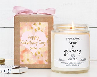 Galentine's Day Gift - Soy Candle | Happy Galentine's Day Card | Modern Galentine's Day Gift | Best Friend Gift | Valentine's Day Gift