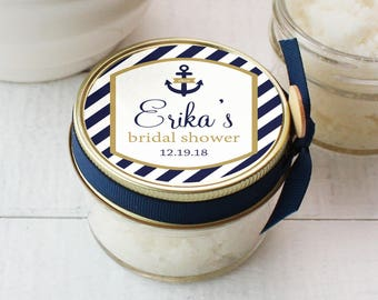 4oz - Bridal Shower Favor | Shower Favor Sugar Scrub - All-Natural, Vegan | Nautical Bridal Shower Favor | Nautical Shower Favor