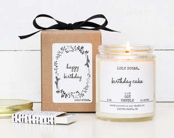 Birthday Gift Soy Candle