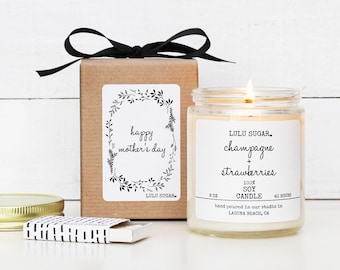Mother's Day Gift Soy Candle - 8 oz Candle - Happy Mother's Day Candle Gift | Gift for Mom | Premium Soy Candle | Gift for her | Scented