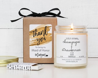 Bridal Party Thank You Gift | Maid of Honor Thank You Gift | Bridesmaid Thank You Gift | Bridal Party Gift | Personalized Bridal Party Gift