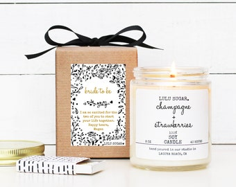 Bride To Be Gift | Bride To Be Candle | Engagement Gift Candle | Engagement Card | Bridal Shower Gift | Bridal Shower Card | Gift for bride