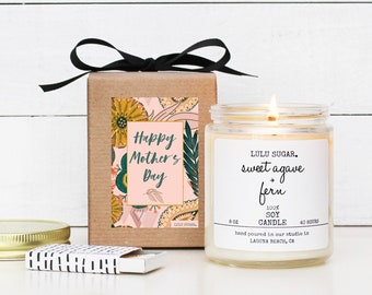 Mother's Day Gift Soy Candle - 8 oz Candle - Happy Mother's Day Boho Candle Gift | Gift for Mom | Premium Soy Candle | Gift for her |