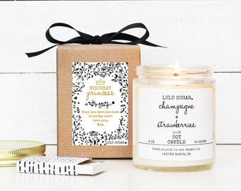 Birthday Gift Soy Candle - 8 oz Candle -  Birthday Princess Gift Candle | Birthday Candle | Premium Soy Candle | Birthday Gift For Her