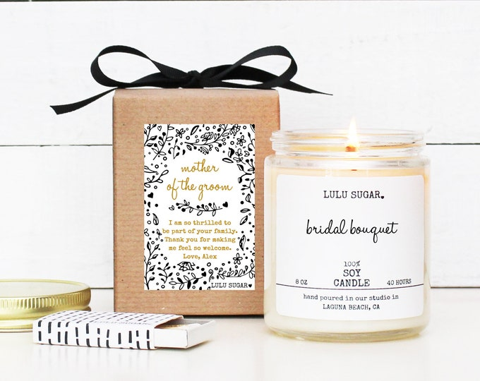 Mother of the Groom Gift | Personalized Soy Candle Gift | Mother-In-Law Gift | Lulu Sugar Candles