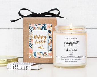 Easter Gift Soy Candle - 8 oz Candle - Happy Easter Candle Gift | Gift for Mom | Premium Soy Candle | Gift for her | Easter Basket Idea