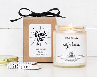 Thank You Gift Candle | Personalized Thank You Candle | Company Gift Gift | Custom Candle Gift | Custom Company Gift | Logo Candle