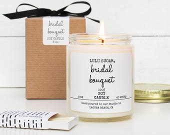 Bridal Bouquet Scented Soy Candle - Soy Candle Gift | Engagement Gift | Premium Soy Candle | Bridesmaid Gift | Wedding Gift