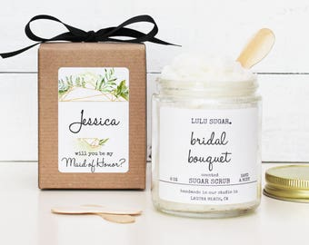 Will you be my Bridesmaid Gift | Will you be my Maid of Honor Gift | MOH Thank You Gift | Bridesmaid Thank You Gift - Crystal Label Design