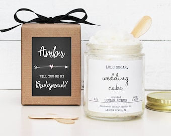 Will you be my Bridesmaid Gift | Will you be my Maid of Honor Gift | MOH Thank You Gift | Bridesmaid Thank You Gift - Arrow Label Design