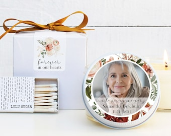 Photo Memorial Service Candles - Photo Memorial Candles - Personalized Memorial Service Favors | In Memory of Candles | Funeral Candles