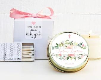 Baptism Favors | Baptism Candles | Personalized Baptism Candles | Girl Baptism Favors | Baptism Favor Idea | Christening Favor
