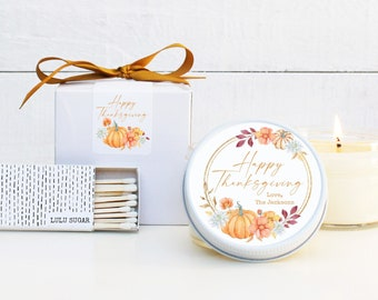 Thanksgiving Candle Favors - Happy Thanksgiving Candles - Thanksgiving Table Favor | Thanksgiving Favors | Fall Candle