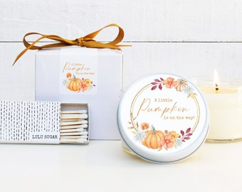 Fall Baby Shower Favor Candles | A Little Pumpkin Is On the Way Favors | Fall Candle Favors | Pumpkin Baby Shower Favors | Pumpkin Favors