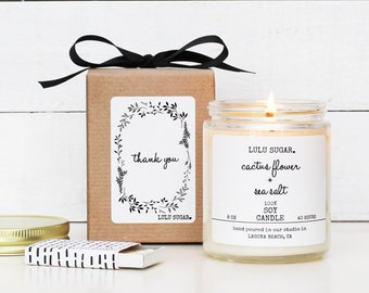 Thank You Gift - 8 oz Candle - Thank You Candle | Appreciation Gift | Teacher Gift | Aide Gift | Gratitude Gift | Unique Thank You Gift