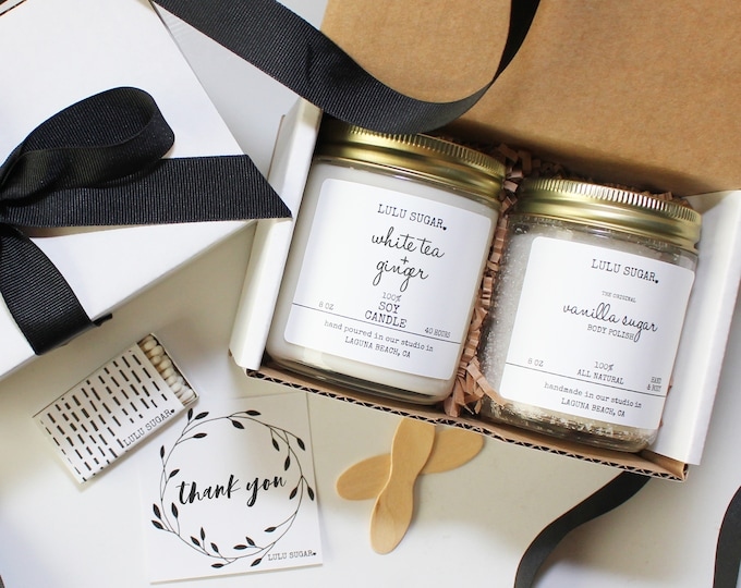 Thank You Gift Set | Thank You Gift For Her | Appreciation Gift For Her | Teacher Gift | Best Friend Gift | Candle Gift set