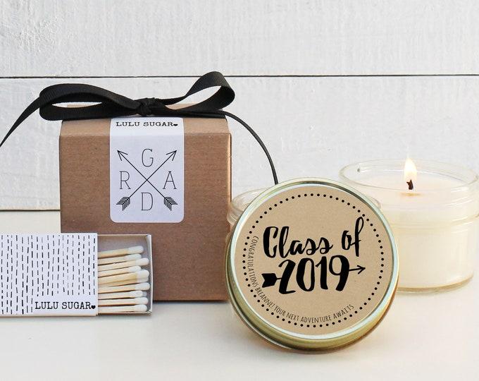 Graduation Favors   Graduation Candles   Adventure Awaits Graduation Favor   Personalized Graduation Favors   Class of 2019 - Set of 6