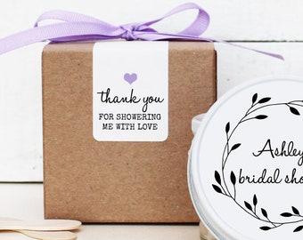 Favor Boxes - Sugar Scrub Favor Boxes | Candle Favor Boxes | Shower Favor Boxes | Thank You Labels | Mason Jar box | ANY COLOR