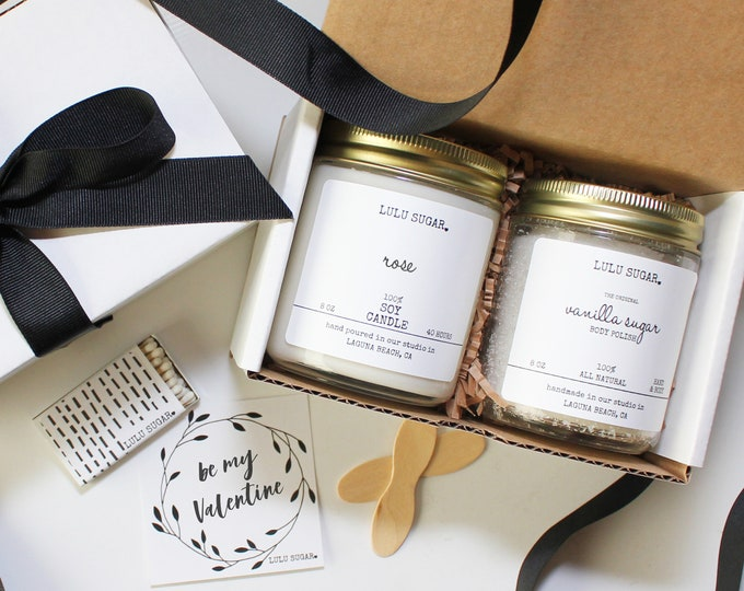 Be My Valentine Gift Set | Valentine's Day Gift | Girl Friend Gift | Spa Gift Set | Candle Gift set | Bath Gift Set | Galentine's Day Gift