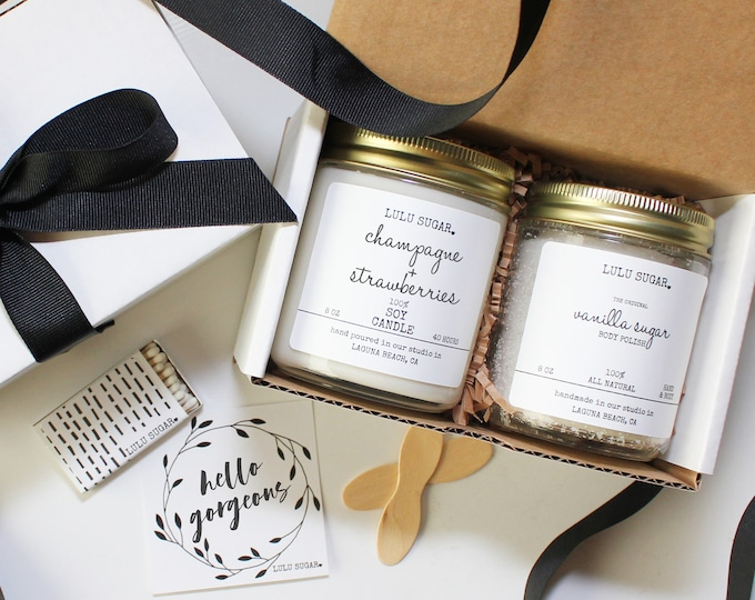 Hello Gorgeous Birthday Gift Set | Girl Friend Birthday Gift | Best Friend Birthday Gift | Sister Gift | Gift for her | Candle Gift set