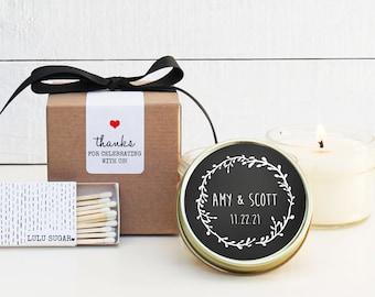 Wedding Favor Candles - Chalkboard Label Design | Wedding Favor Candles | Personalized Wedding Favors | Chalkboard Wedding Favor