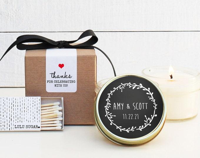 Wedding Favor Candles - Chalkboard Label Design   Wedding Favor Candles   Personalized Wedding Favors   Chalkboard Wedding Favor