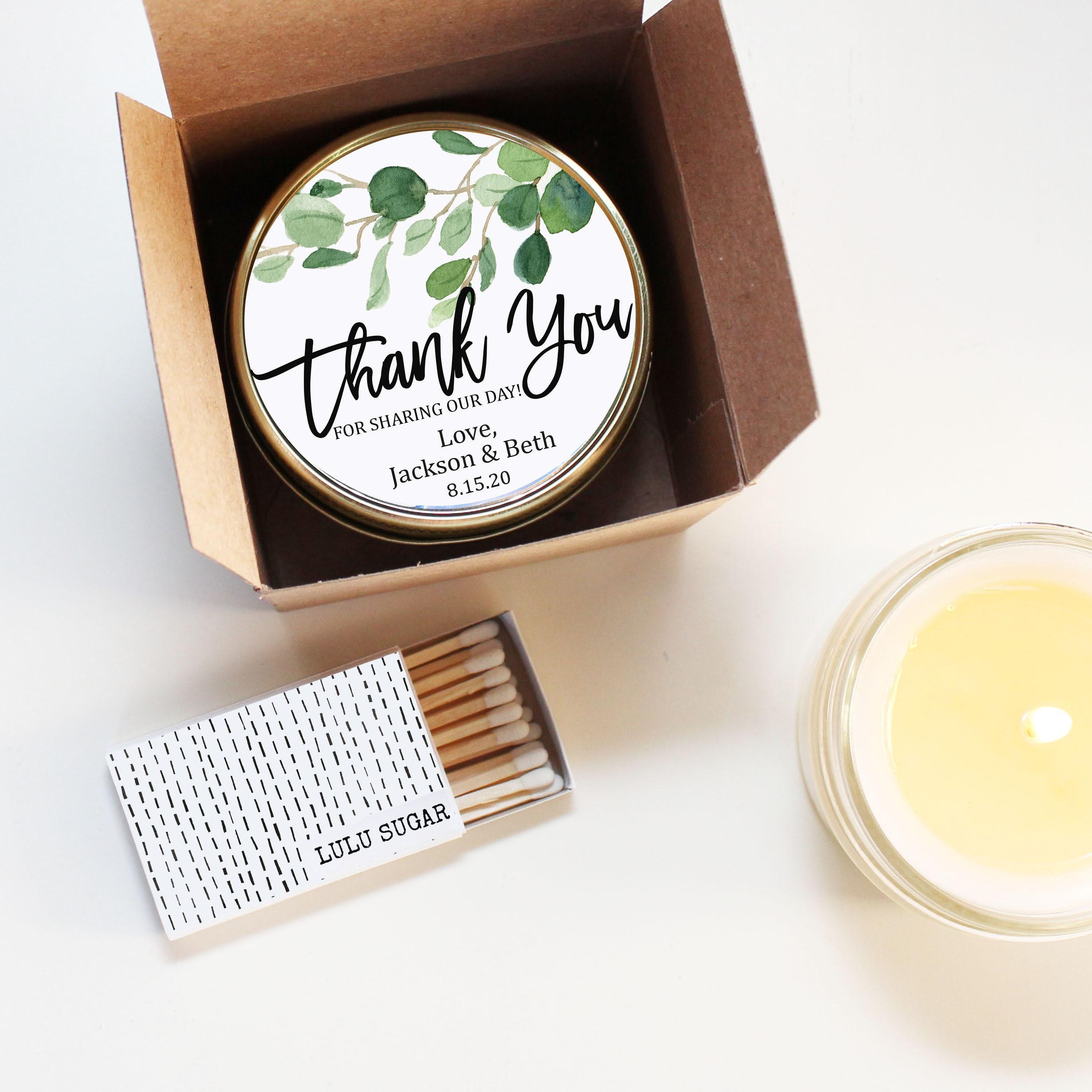Wedding Favor Candles | Eucalyptus Greenery Wedding Favors