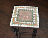 Mosaic Broken Vintage China Accent Table Plant Stand Garden Decor
