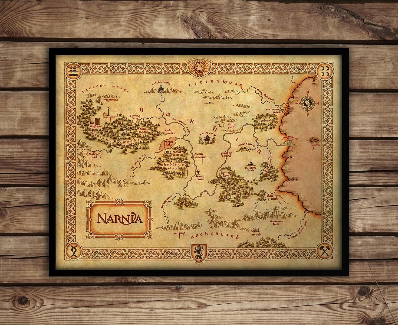 Narnia map Narnia art print C S Lewis Fantasy Map   Etsy
