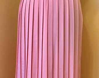 747a464db 70s Andrea Gail pleated vintage ladies skirt size 12 Elastic waist pastel  peach 1970s accordion skirt Medium Midi skirt