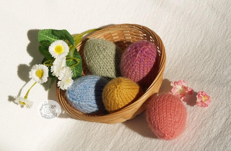 beginner pattern Easter decor Knitting Easter egg egg Spring ornaments easy pattern pattern