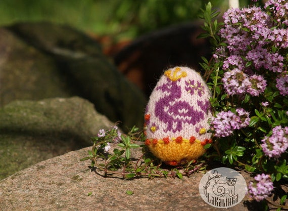 Knitting Pattern Pdf Spring Hanging Ornaments Easter Eggs Etsy