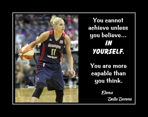 Women Basketball Motivation Quote Poster Gift For Her Etsy