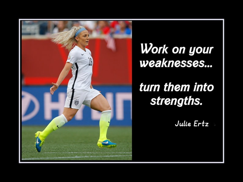 Soccer Quote | Inspirational Soccer Quote Wall Art Gift Champion Julie Ertz Etsy
