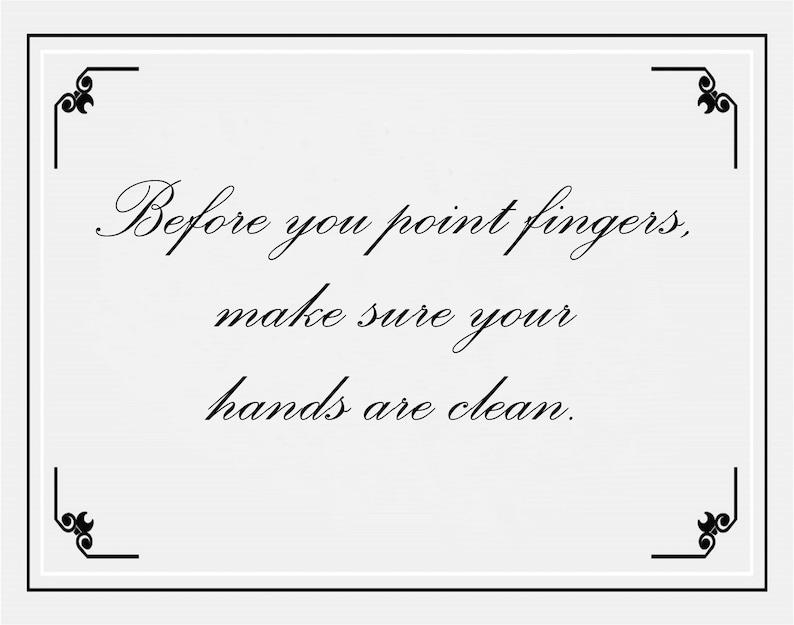 Printable Poster Wall Art Gift For Women Men Clean Hands Etsy